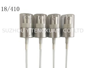 18/410 20/410 24/410 Cosmetic Lotion Pump Electrified Aluminum Material For Lotion Bottles