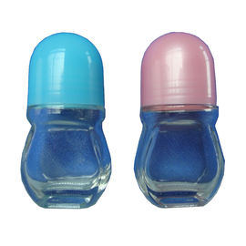 15 Ml Glass Roller Bottles , Empty Glass Roll On Bottles With Cap / Roll Sealing Type